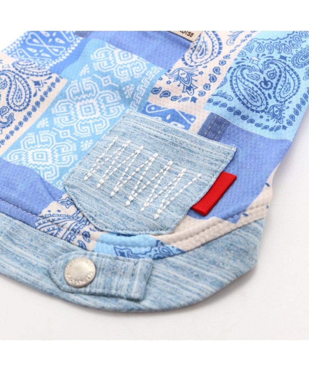 PET PARADISE ペットパラダイス パッチ柄 ポケットクール タンクトップ 青