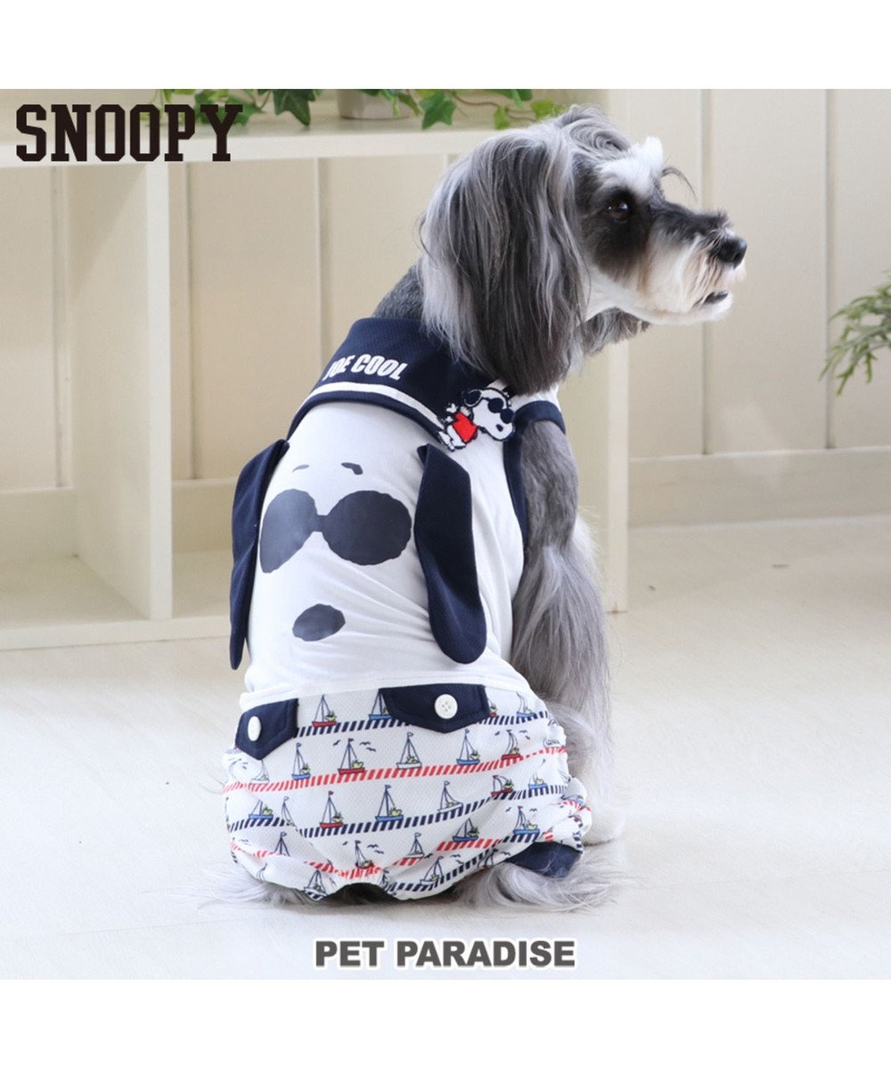 PET PARADISE スヌーピー ジョークール ロンパース タッチワンクール 白~オフホワイト