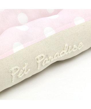 PET PARADISE ペットパラダイス クール カドラー ベッド 四角L(100cm)白 ベージュ