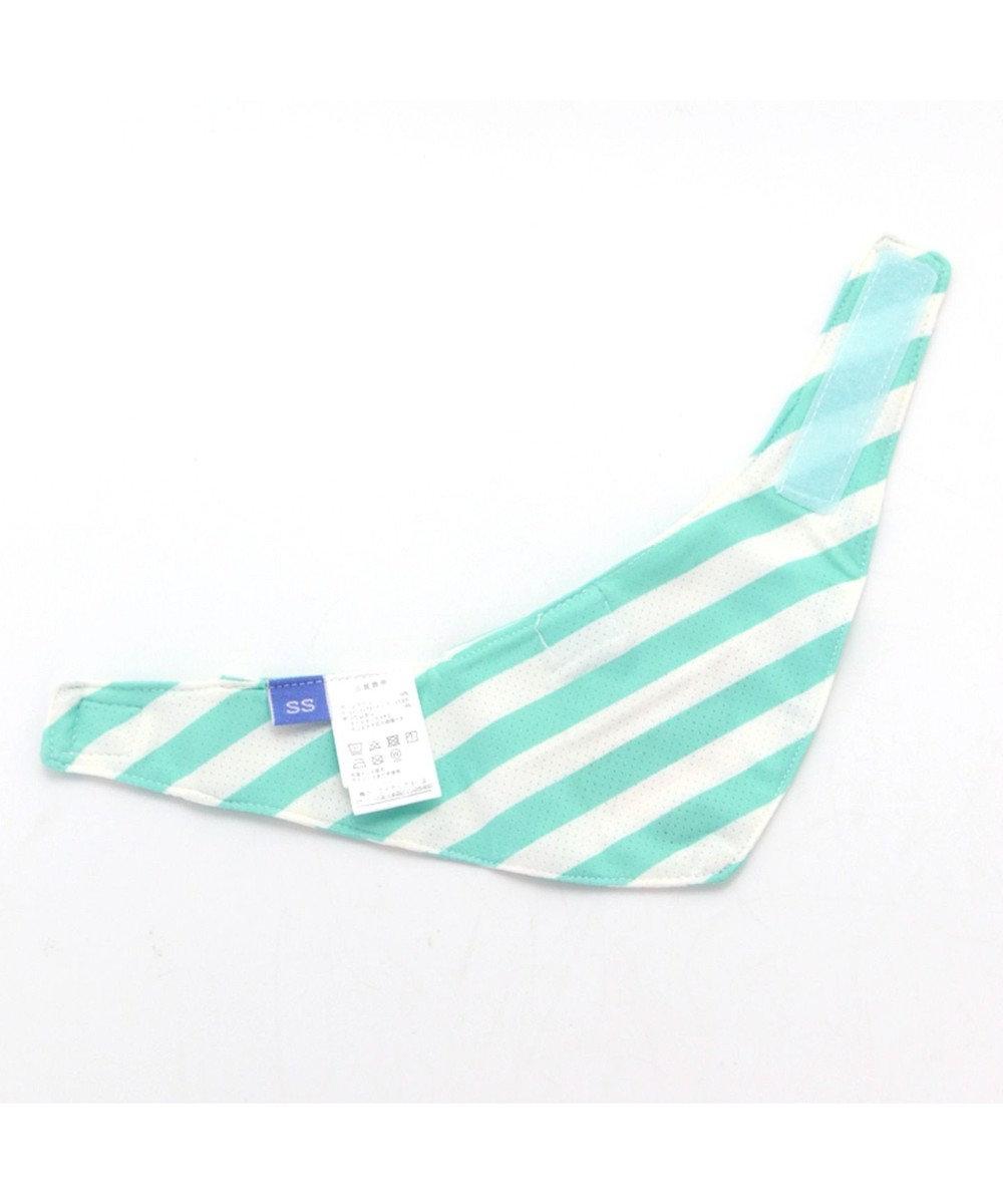 PET PARADISE Lee ロゴ縞 ポケットクール バンダナ ペットSM/M/L 青緑