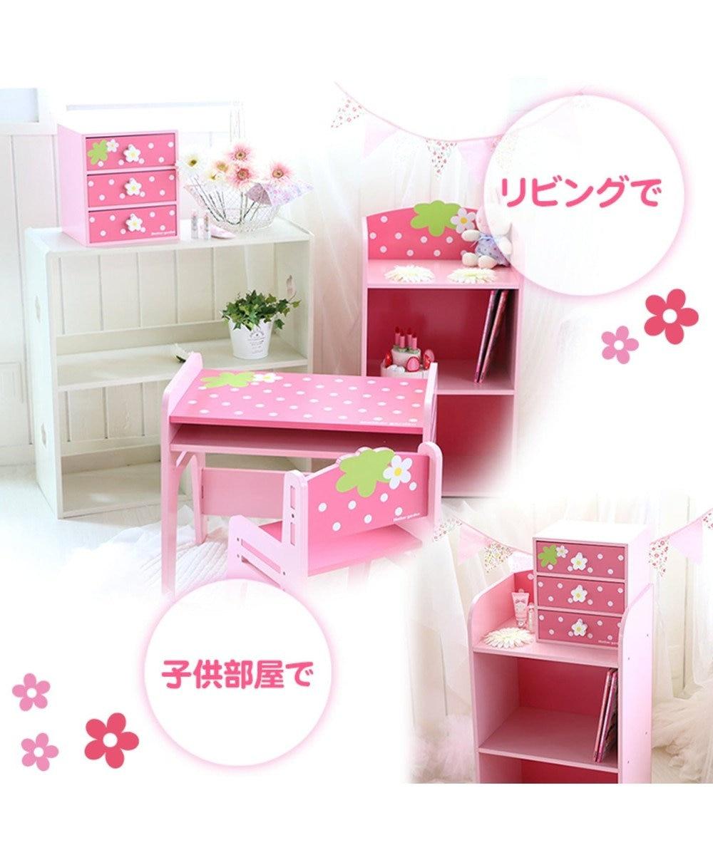 Mother garden マザーガーデン 野いちご 3段ミニチェスト 家具 インテリア 子供部屋 ピンク(濃)