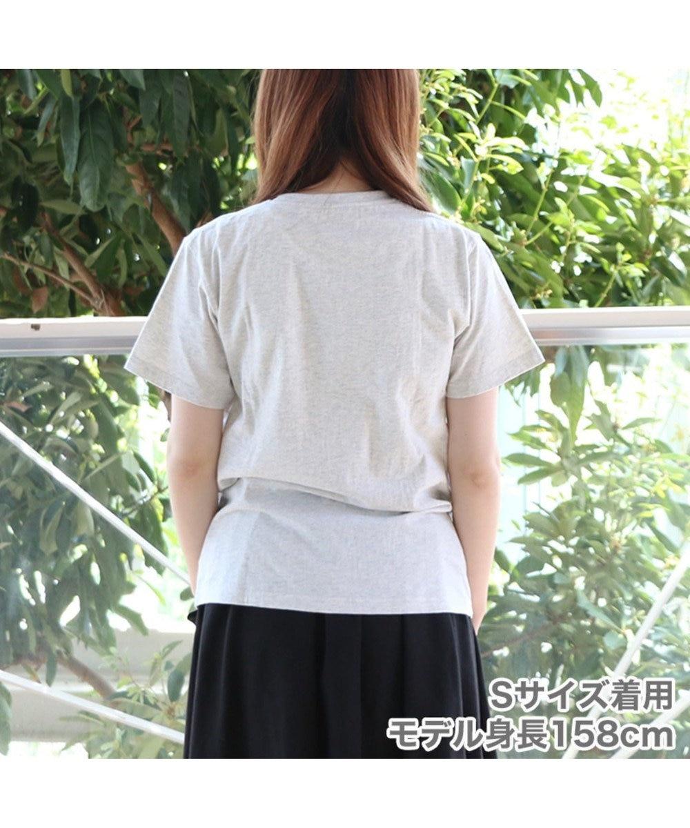 Mother garden しろたん Tシャツ 半袖 Now Loading柄 灰色 グレー