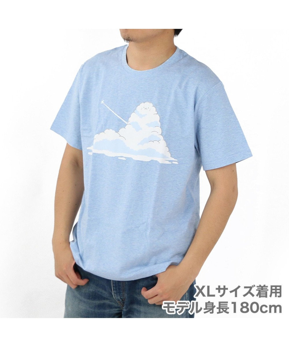 Mother garden しろたん Tシャツ 半袖 入道雲柄 青色 ユニセックス 水色