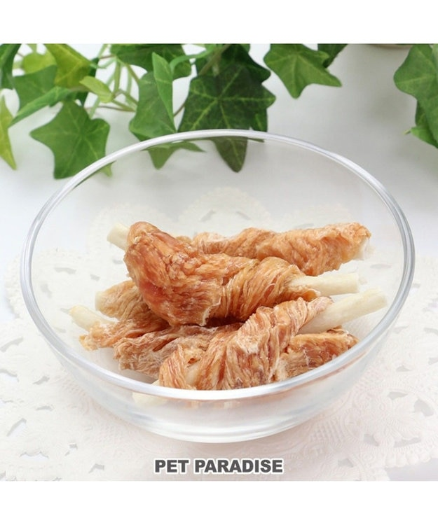 PET PARADISE 犬 おやつ 国産 フード ペットパラダイス 犬 おやつ 国産 ささみ巻き 牛皮ガム 5本 | 犬 オヤツ 犬用 ペット