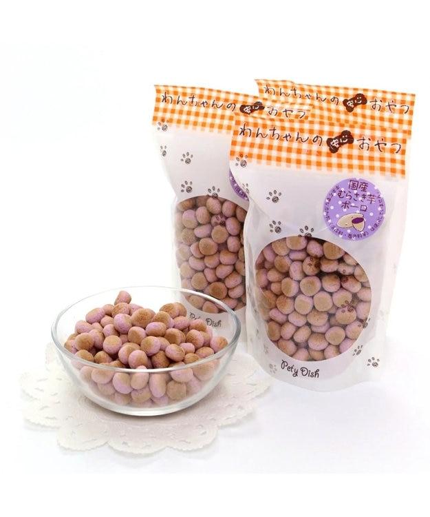 PET PARADISE ペティディッシュ 愛犬用おやつ 紫芋ボーロ3袋