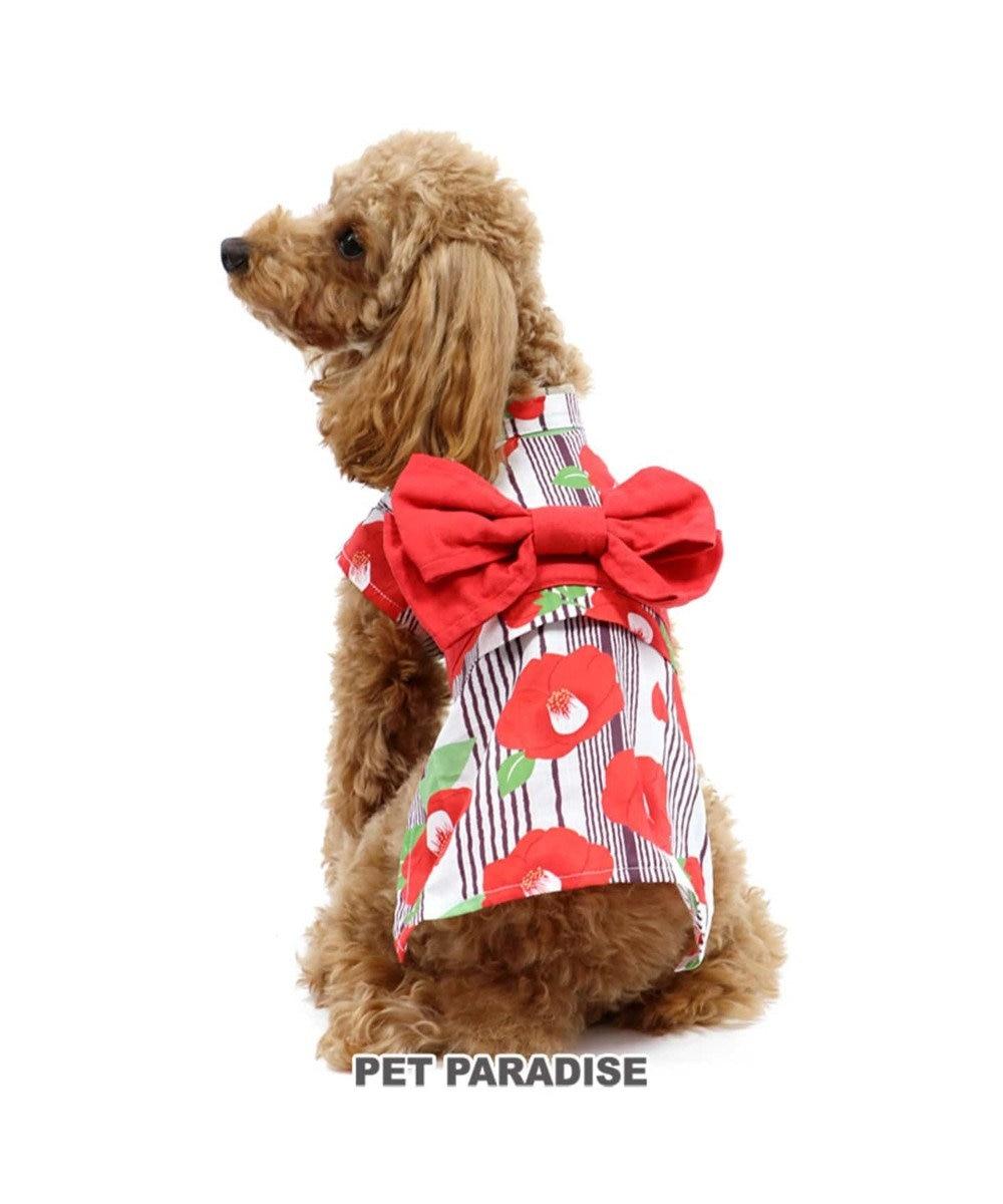 PET PARADISE ペットパラダイス 椿 浴衣 〔超小型・小型犬〕 赤