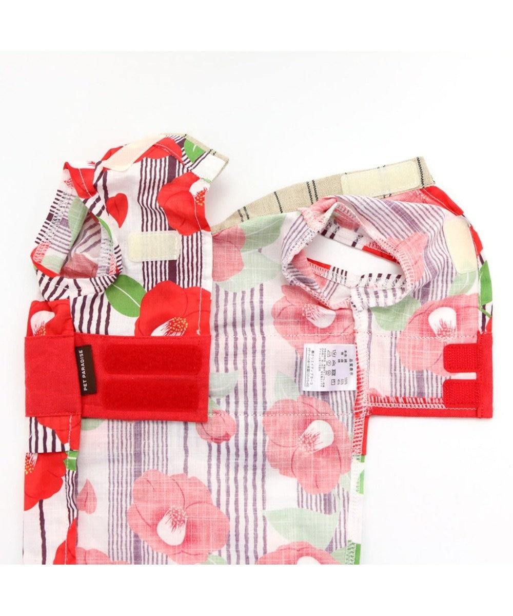 PET PARADISE ペットパラダイス 椿 浴衣 〔中型・大型犬〕 赤