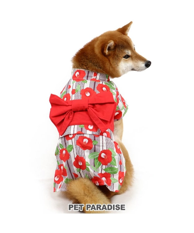 PET PARADISE ペットパラダイス 椿 浴衣 〔中型・大型犬〕