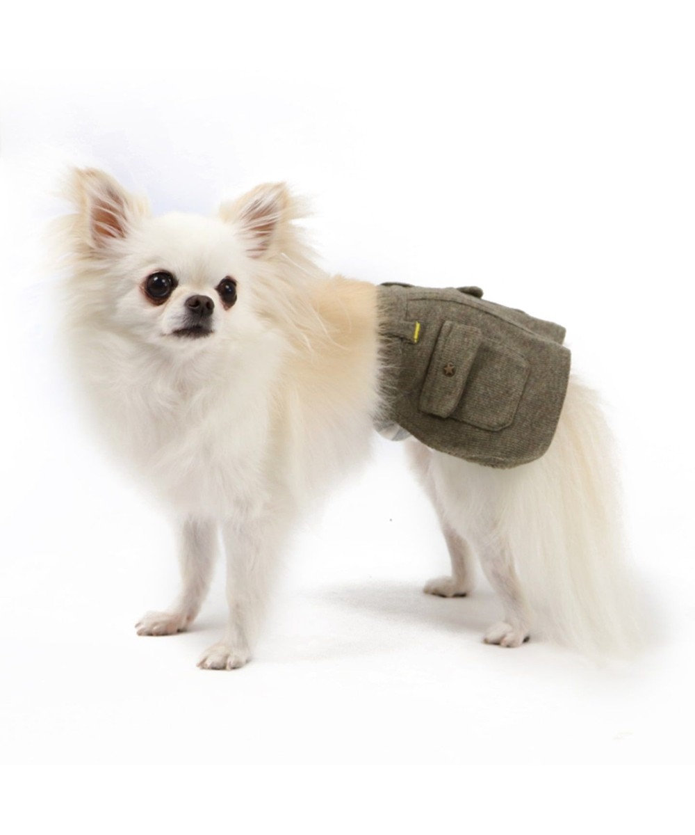 PET PARADISE ペットパラダイス カーキ マナースカート〔超小型・小型犬〕 緑