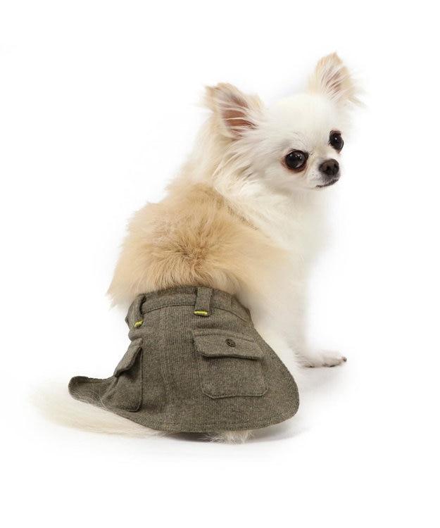 PET PARADISE ペットパラダイス カーキ マナースカート〔超小型・小型犬〕
