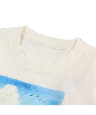 Mother garden しろたん Tシャツ 半袖 キッズ らっこいぬ柄 白~オフホワイト