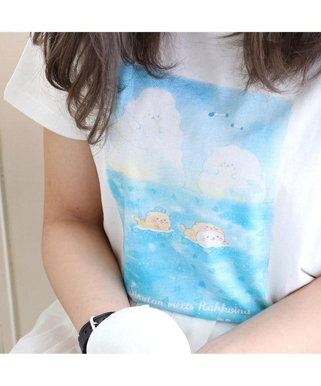 Mother garden しろたん Tシャツ 半袖 らっこいぬ柄 白色 ユニセックス