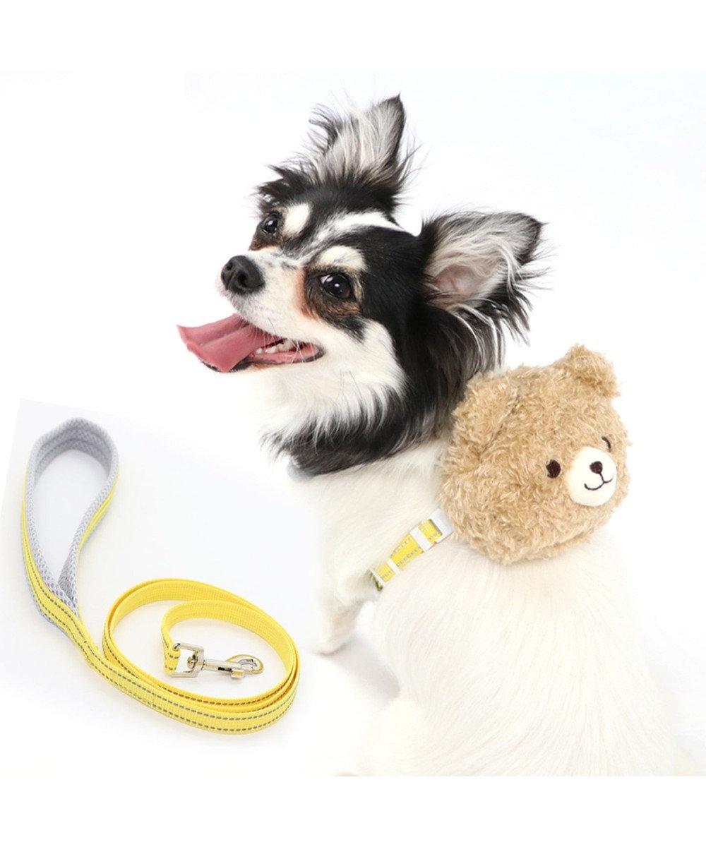 PET PARADISE ペットパラダイス くまリュック ハーネス&リード S〔小型犬〕 茶系