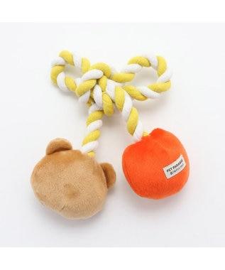 PET PARADISE ペットパラダイス くま りんご ロープ トイ 犬 おもちゃ 361-54227 黄