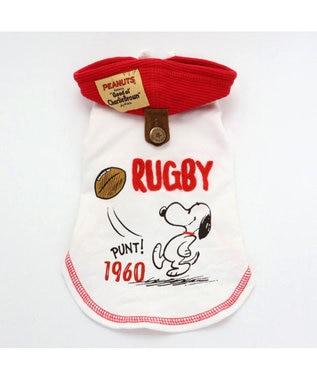 PET PARADISE スヌーピー レトロ スポーツ パーカー 赤〔超小型・小型犬〕 赤