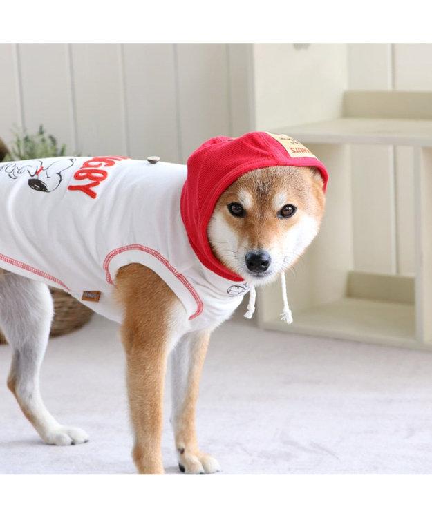 PET PARADISE スヌーピー レトロ スポーツ パーカー 赤〔中・大型犬〕
