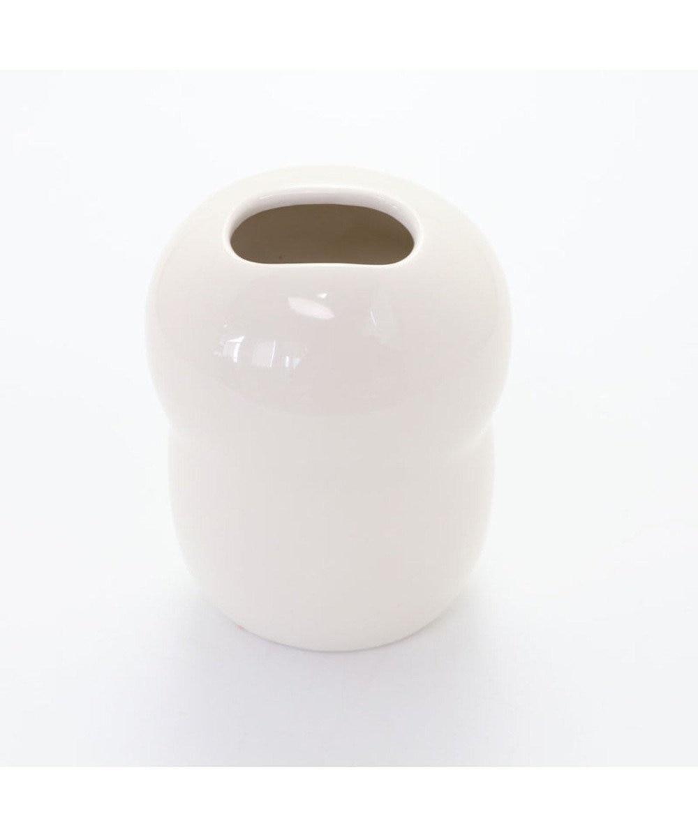 Mother garden しろたん フラワーベース 花瓶 花器 白 あざらし キャラクター かわいい 白雲陶器 一輪差し フラワーポット 花入れ ホワイト 陶器 フラワー インテリア マザーガーデン 白~オフホワイト