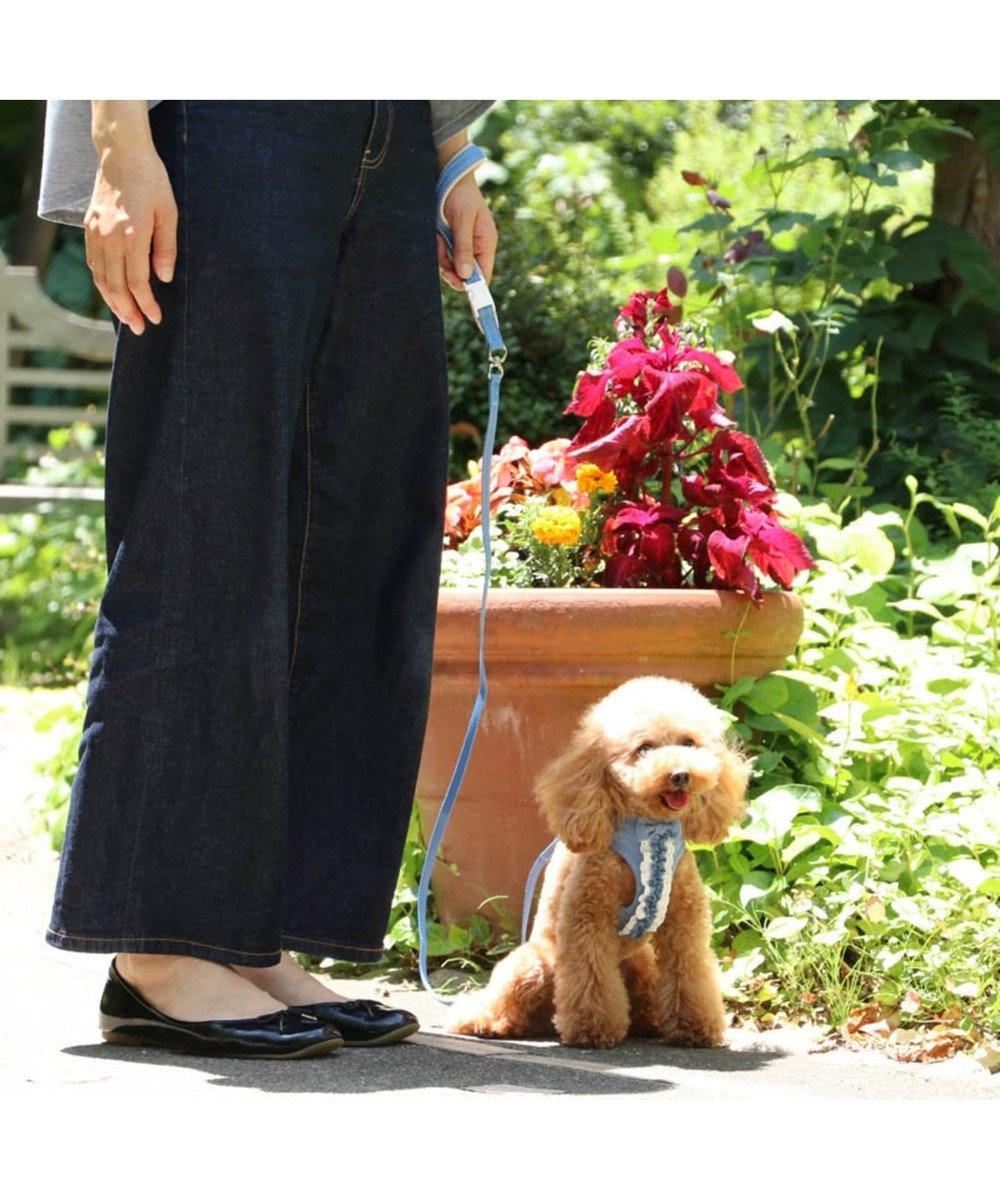 PET PARADISE ペットパラダイス フリル ハーネスリード ペットSS〔小型犬〕 水色