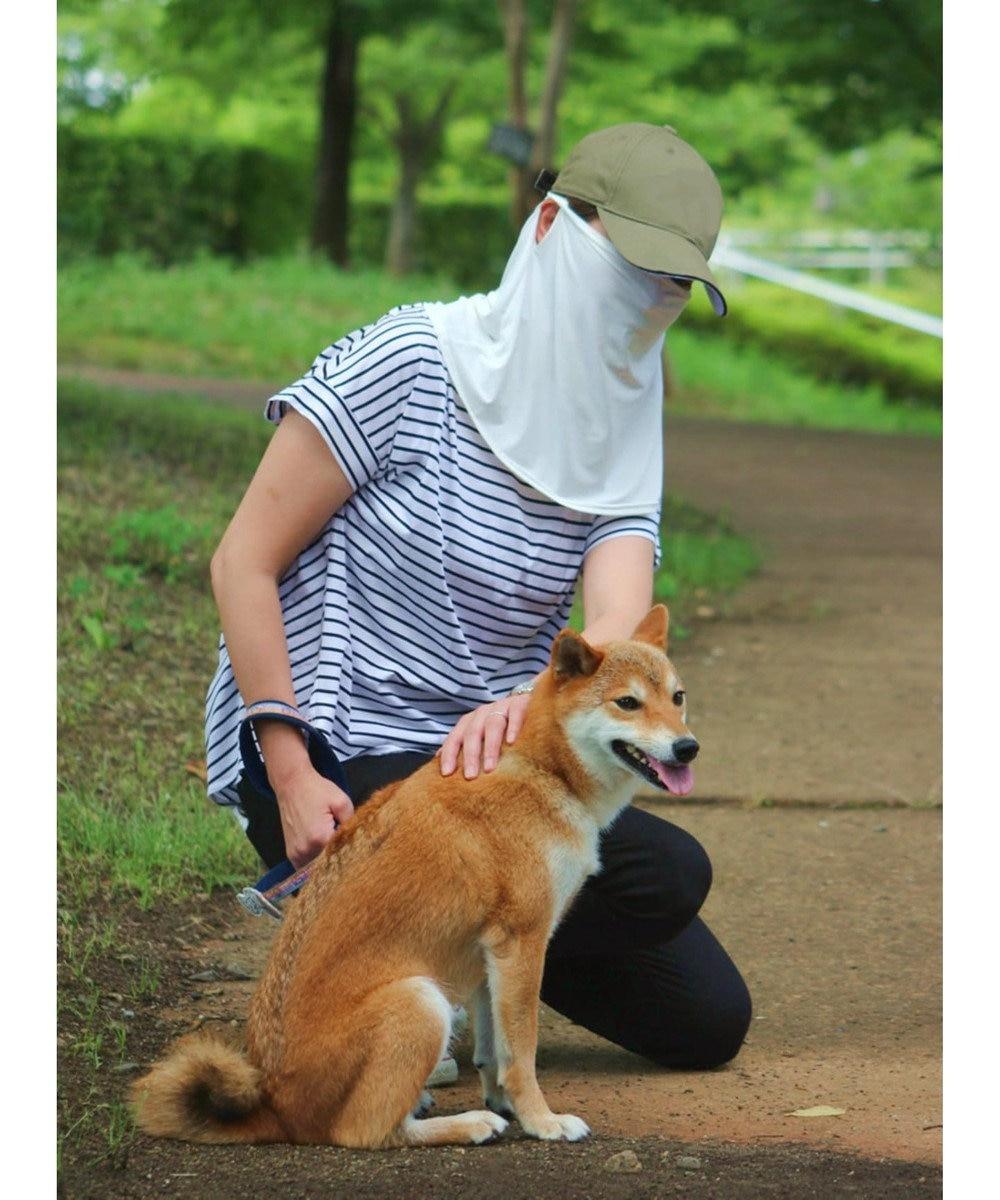 Mother garden マザーガーデン ひえサラ フェイスカバー UVカット 接触冷感 日焼け防止 黒 0