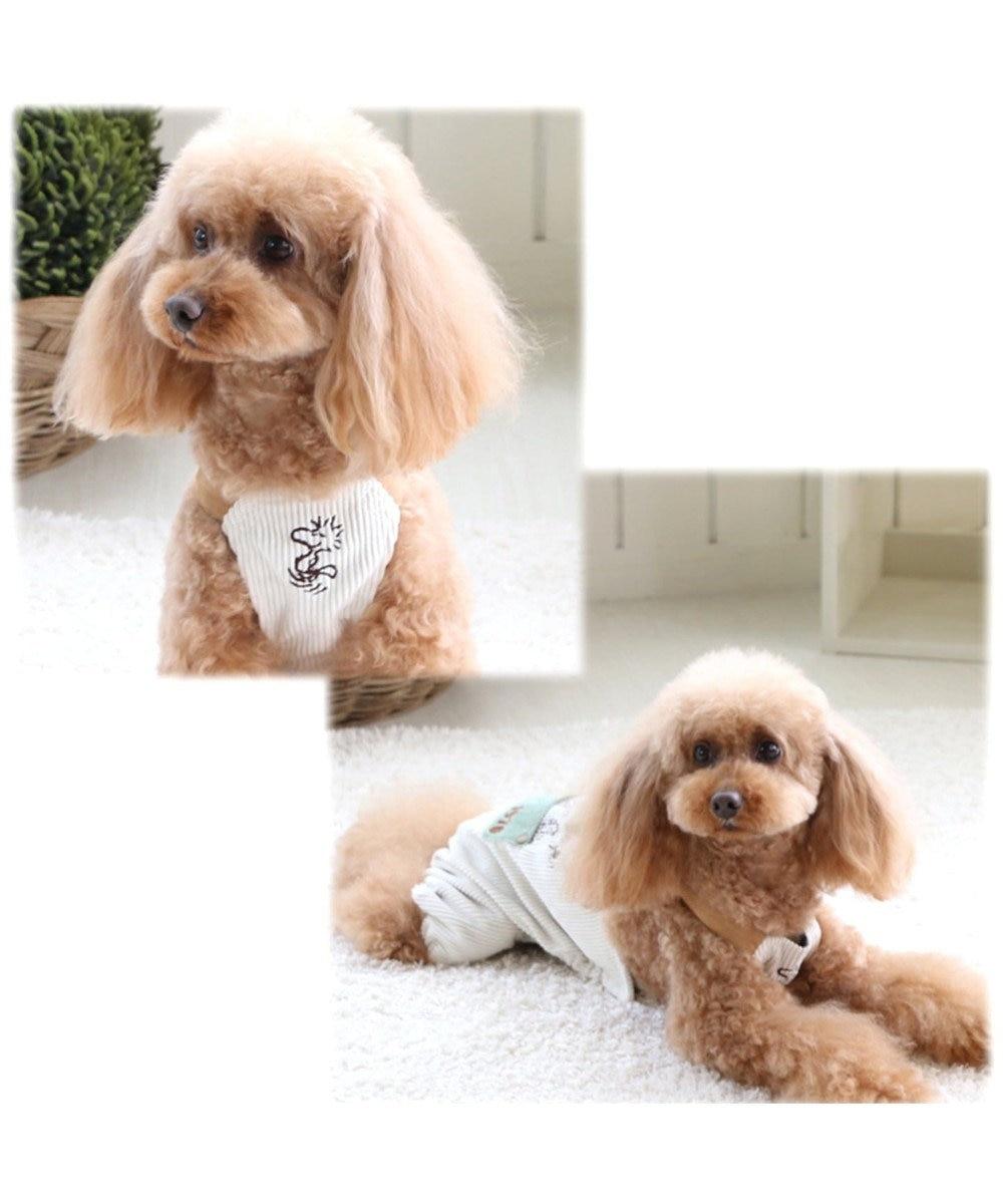 PET PARADISE スヌーピー コーデュロイオーバーオール 〔超小型・小型犬〕 白~オフホワイト