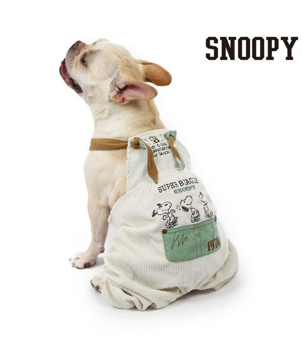 PET PARADISE スヌーピー コーディロイオーバーオール 〔中型犬〕