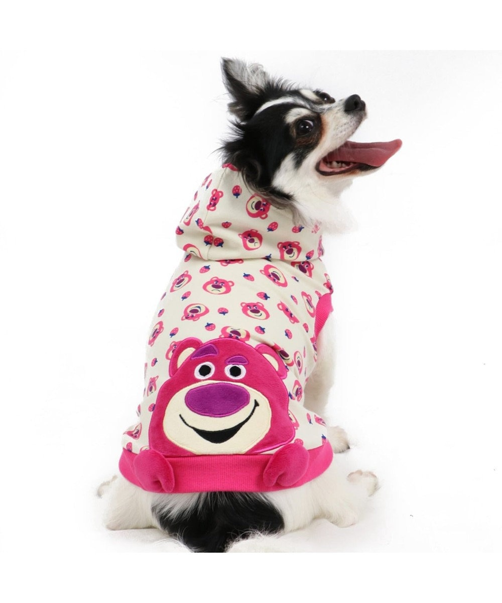 PET PARADISE トイ・ストーリー  ロッツォ総柄 パーカー〔超小型・小型犬〕 ピンク(濃)