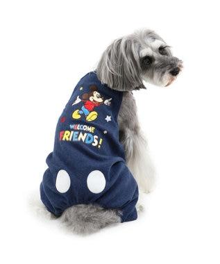 PET PARADISE ディズニーミッキー フレンズ柄 オーバーオール〔超・小型犬〕 紺(ネイビー・インディゴ)