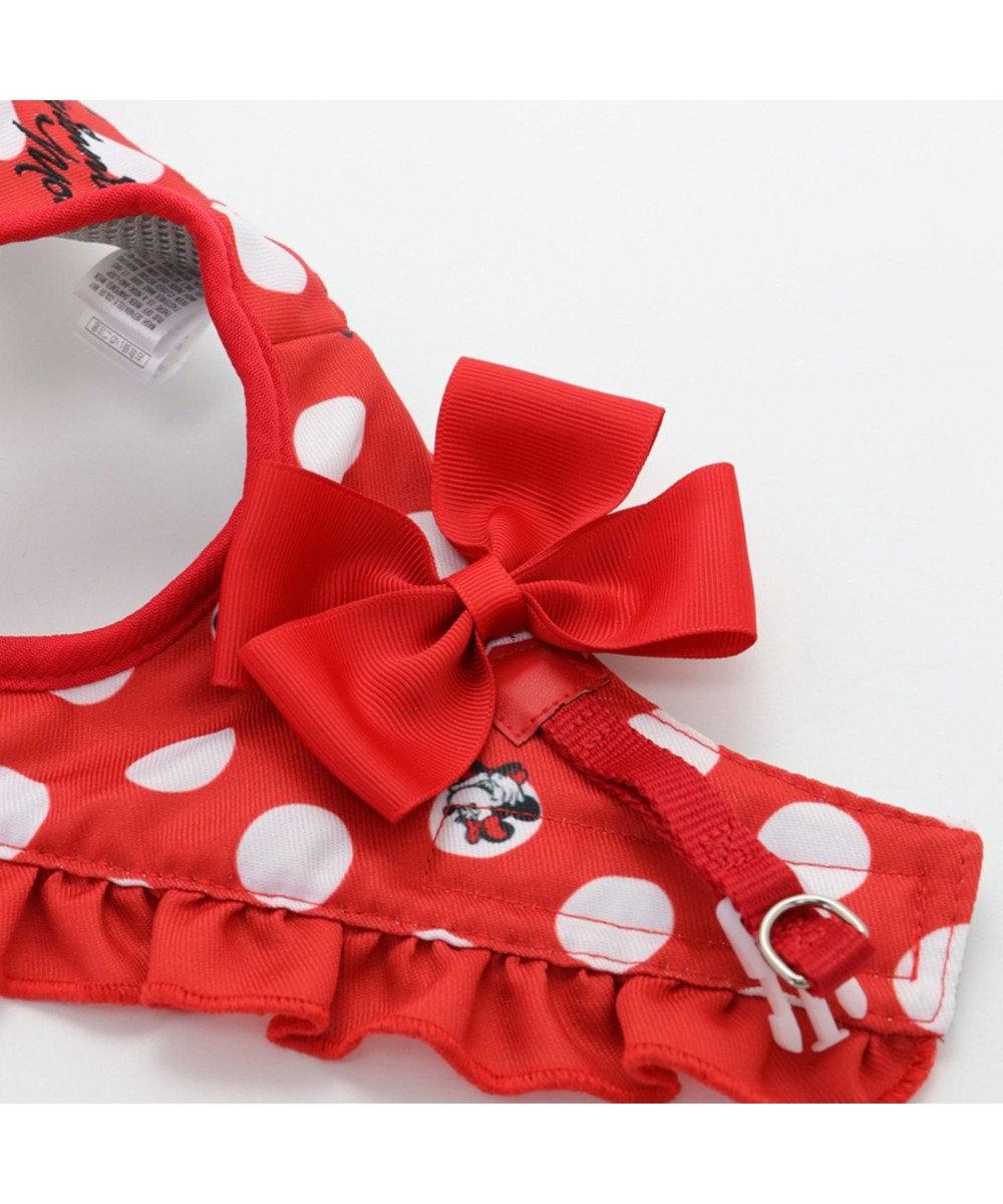 PET PARADISE ディズニー ミニーマウス 水玉ベスト ハーネス S 〔小型犬〕 赤