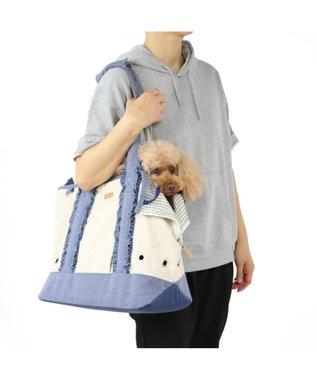 PET PARADISE ペットパラダイス フリルトートキャリーバッグ 〔小型犬〕 青