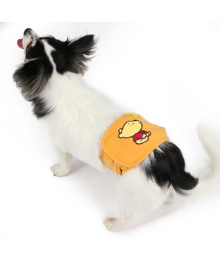PET PARADISE くまのプーさん ポップ総柄 マナーベルト〔超小型・小型犬〕 オレンジ