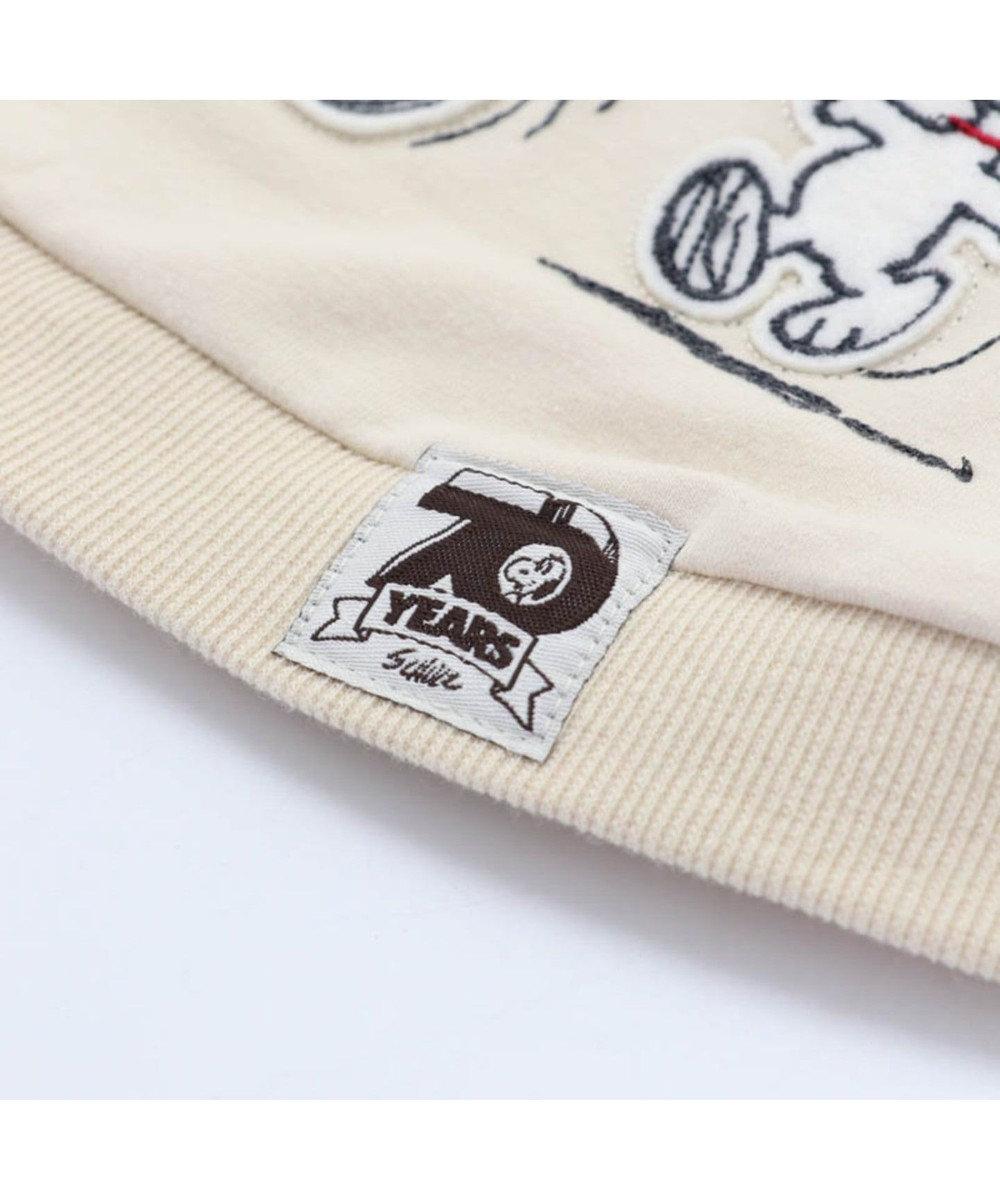 PET PARADISE スヌーピー 70周年 お揃い パーカー白〔中型犬〕 白~オフホワイト