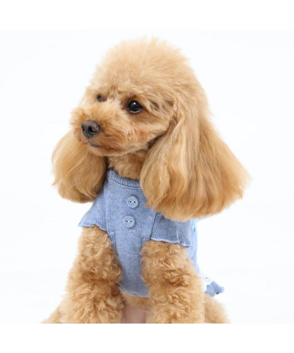 PET PARADISE ペットパラダイス フリルTシャツ青〔超小型・小型犬〕 青