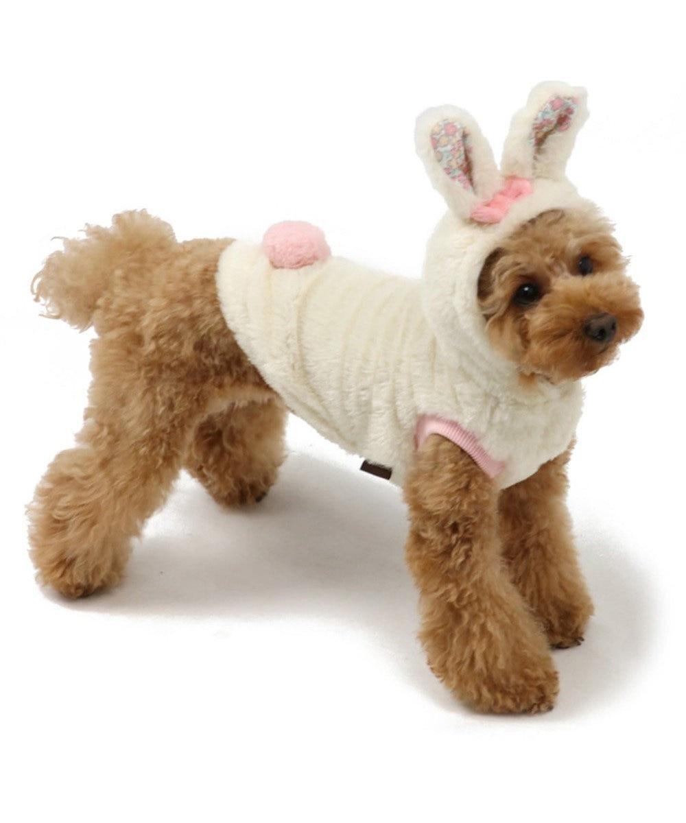 PET PARADISE ペットパラダイス うさぎ なりきりパーカー〔超小型・小型犬〕 白~オフホワイト