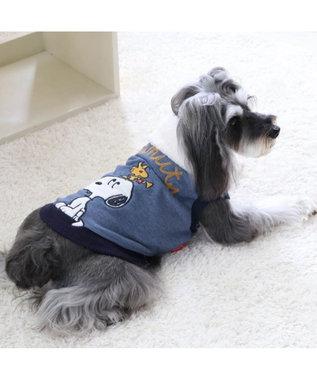 PET PARADISE スヌーピー アニバーサリー トレーナー 紺〔中型犬〕 紺(ネイビー・インディゴ)