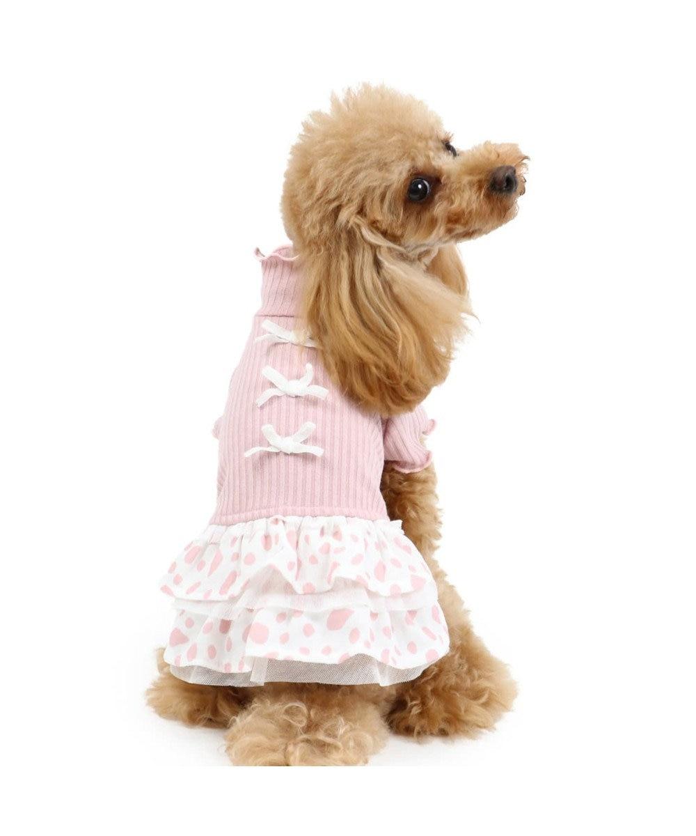 PET PARADISE ペットパラダイス リブワンピース 桃〔超小型・小型犬〕 ピンク(淡)