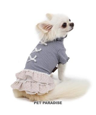 PET PARADISE ペットパラダイス リブワンピース グレー〔超小型・小型犬〕 グレー