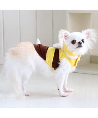 PET PARADISE ペットパラダイス 蜂ふわパーカー 〔超小型・小型犬〕 黄