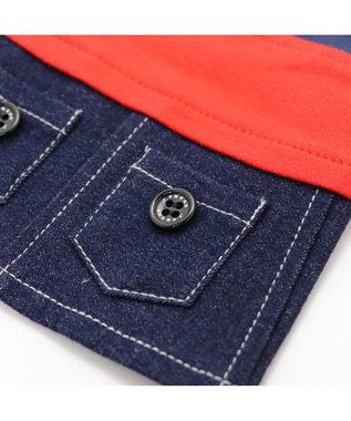 PET PARADISE J.PRESS 配色Tシャツ スカート付き上下〔超小型・小型犬〕 赤