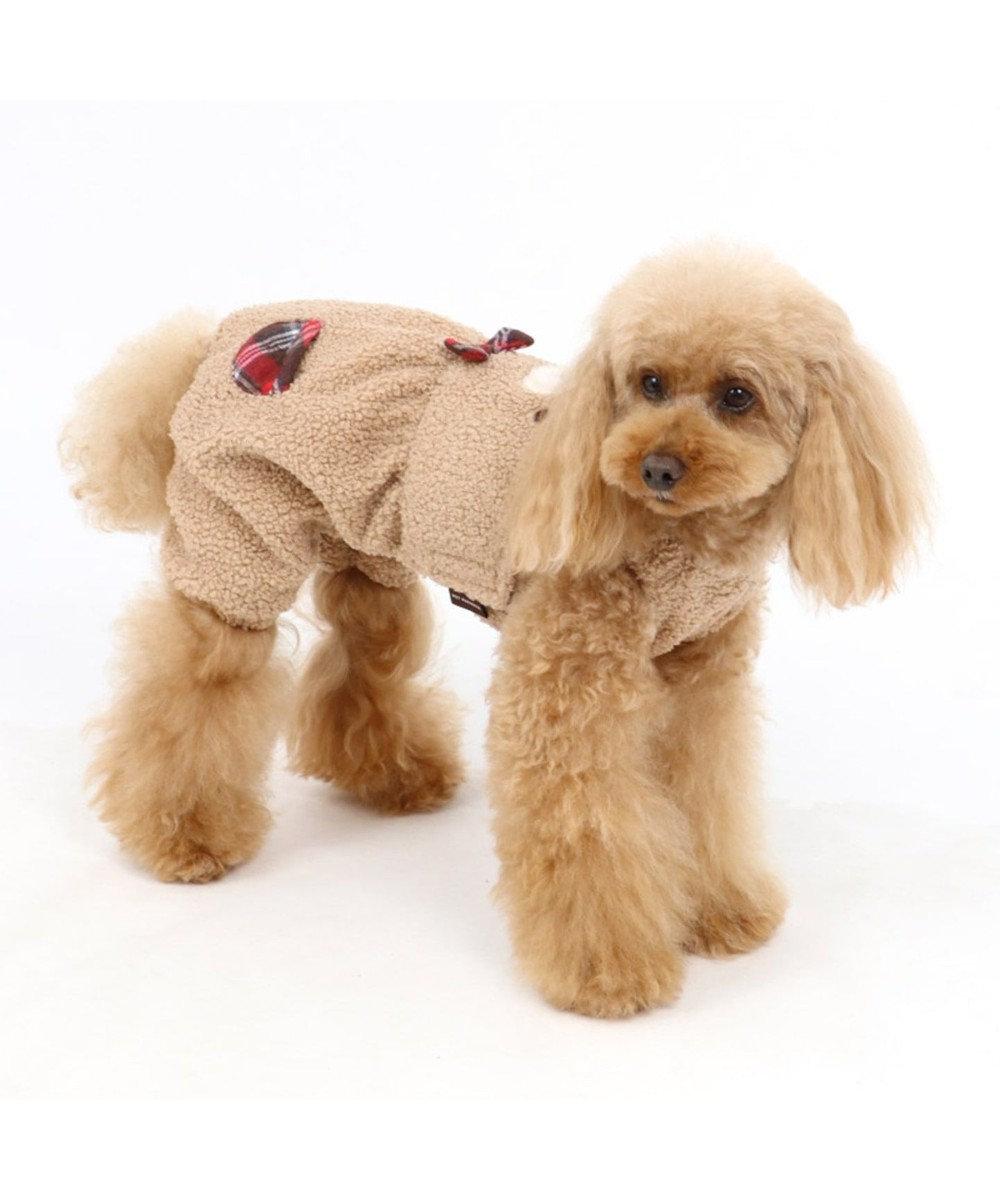 PET PARADISE ペットパラダイス くまパンツ付き上下 〔超小型・小型犬〕 ベージュ
