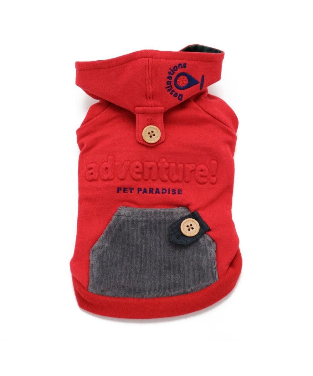 PET PARADISE ペットパラダイス タウンパーカー 赤 〔超小型・小型犬〕 赤