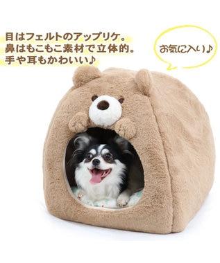 PET PARADISE ペットパラダイス くま 折畳みハウス ベッド カドラー 茶系