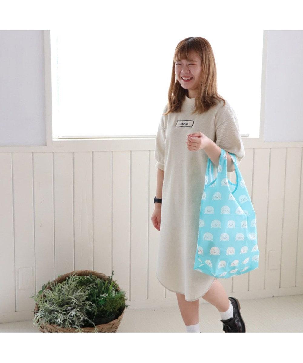 Mother garden しろたん エコバッグ <ふぇいす柄> お買い物バッグ 白~オフホワイト