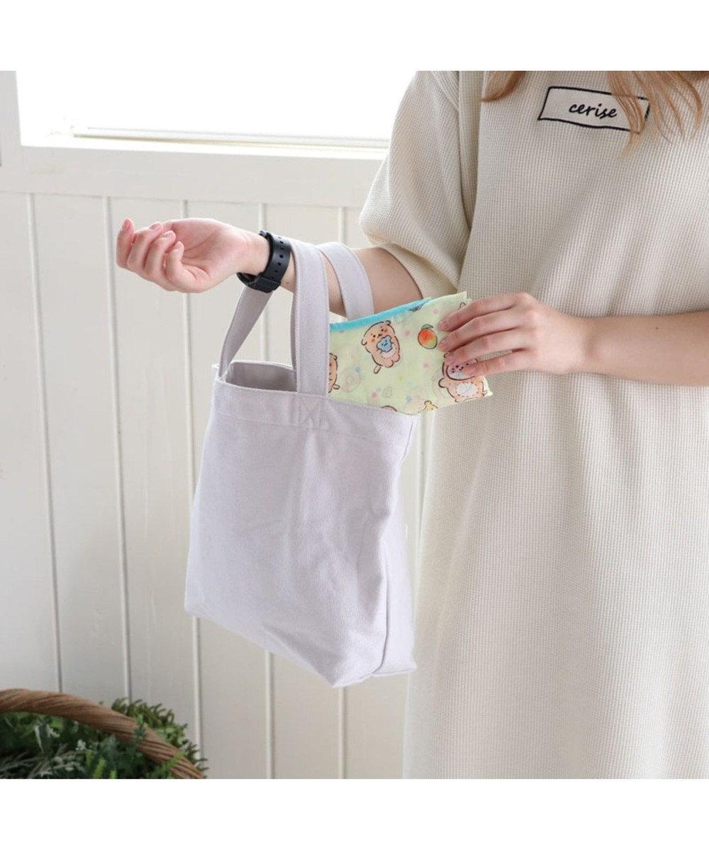 Mother garden しろたん エコバッグ <らっこいぬ柄> お買い物バッグ 白~オフホワイト