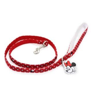 PET PARADISE ディズニーミニーマウス ドット柄リードペット4S・3S〔小型犬〕 赤