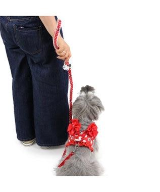 PET PARADISE ディズニーミニーマウス ドット柄リード ペットSS・S〔小型犬〕 赤