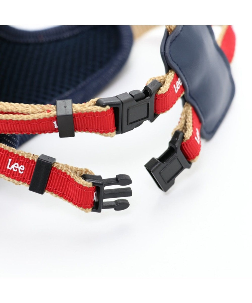 PET PARADISE Lee リュック付 ハーネス ペットS〔小型犬〕 紺(ネイビー・インディゴ)