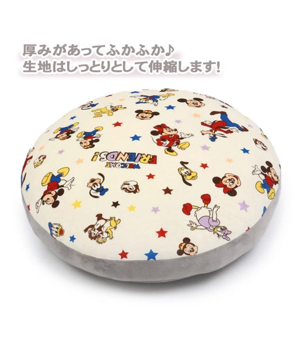 PET PARADISE ディズニーミッキーマウス 至福のもちもち クッション 白~オフホワイト