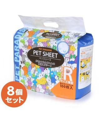 PET PARADISE ペットパラダイス  薄型レギュラートイレシート100枚×8 水色