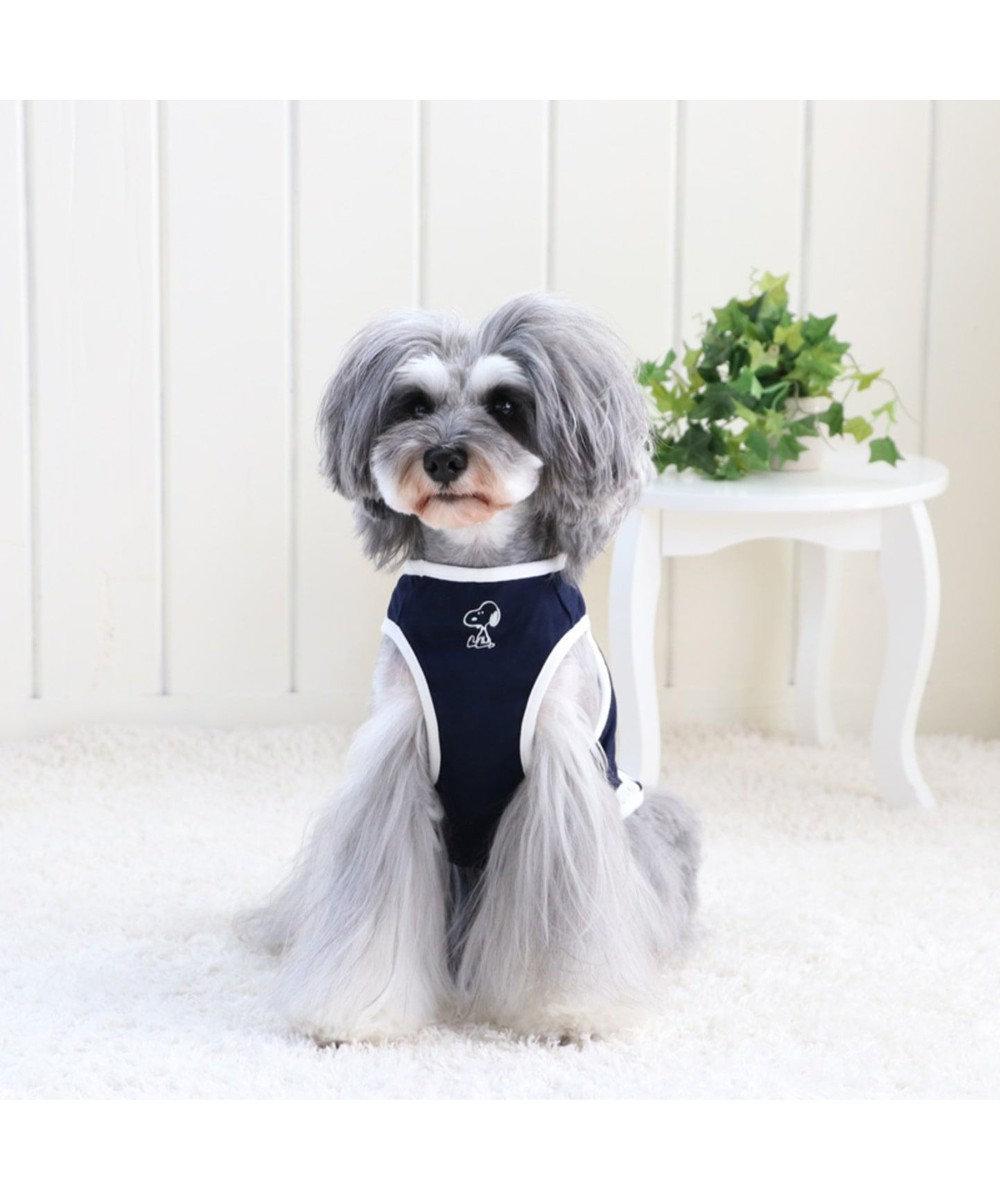 PET PARADISE スヌーピー 天竺 ペティヒート タンクトップ紺 〔超・小型犬〕 紺(ネイビー・インディゴ)