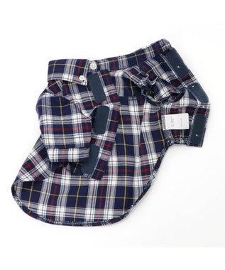 PET PARADISE J.PRESS タータンチェッ クシャツ  〔超小型・小型犬〕 紺(ネイビー・インディゴ)